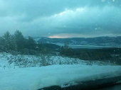 Putevi Srbije: Sneg na putu preko Vlasine do prelaza Strezimirovci