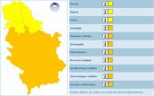Uključen narandžasti meteoalarm u Srbiji