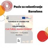 Otvoren poziv mladima za volontiranje u Barseloni