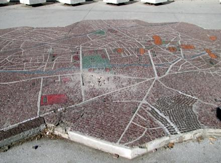 I mapa Vranja na meti HULIGANA