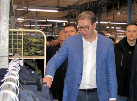 Vučić otvara pogon JUMKA u Drvaru